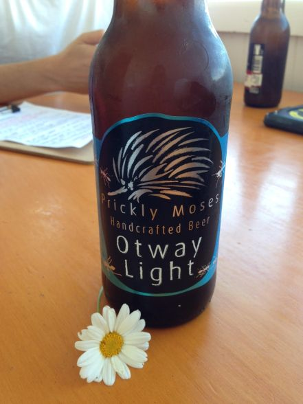 Having a refreshment at Cape Otway